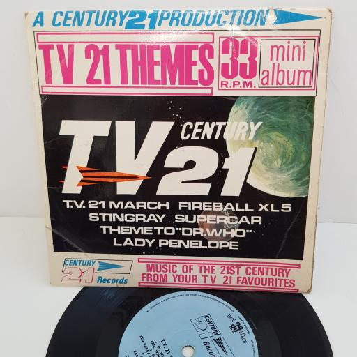 BARRY GRAY ORCHESTRA, SYLVIA ANDERSON, PETER DYNELEY, DAVID GRAHAM AND MORE - T.V 21 Themes, 7 inch mini album, MA 105. Blue label with black font