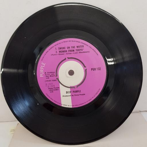 "DEEP PURPLE - Smoke On The Water/Woman From Tokyo/Child In Time, PUR 132, 7""EP, 2nd print, purple label"