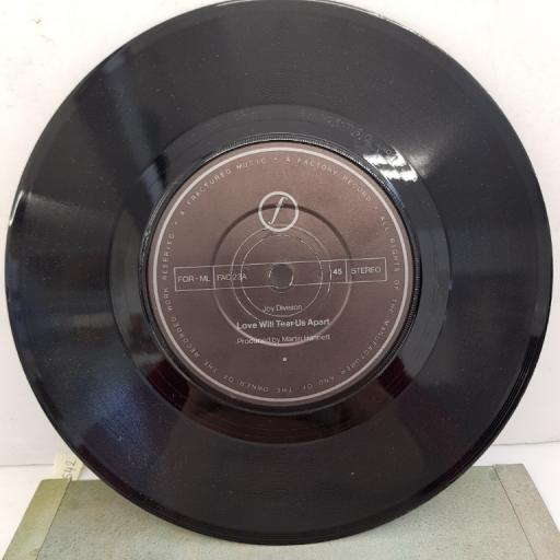 "JOY DIVISION - Love Will Tear Us Apart, B side - These Days/Love Will Tear Us Apart, FAC 23, 7""single, black label with silver font"