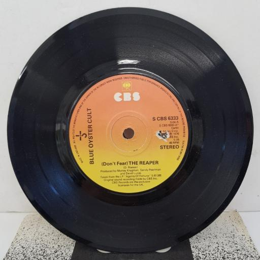"BLUE OYSTER CULT - (Don't Fear) The Reaper, B side - R. U. Ready 2 Rock, 7""single, S CBS 6333"