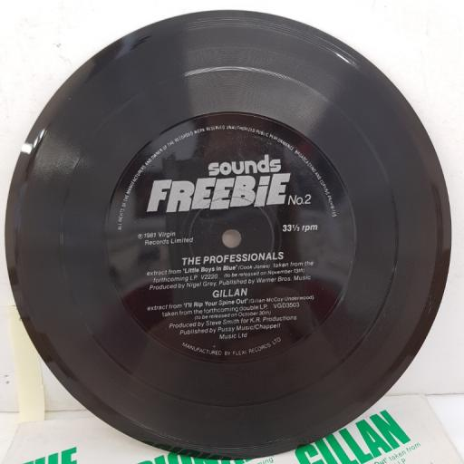 "THE PROFESSIONALS/GILLAN - Sounds Freebie No. 2, 7""single sided flexi disc"