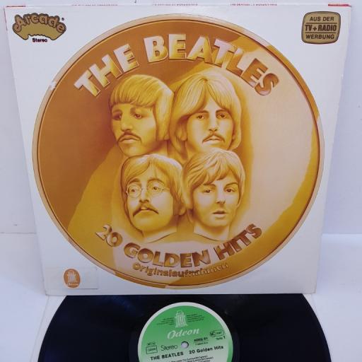 """THE BEATLES - 20 Golden Hits, ADEG 61 - ARCADE/ODEON, green Odeon label. 12""""LP, COMP."""