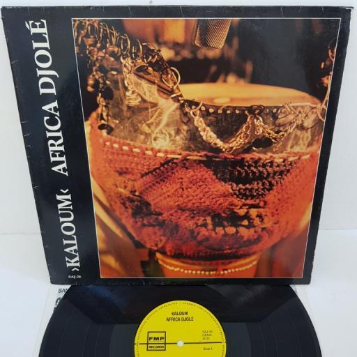 """AFRICA DJOLE - Kaloum, SAJ-26 - yellow FMP label. 12""""LP"""