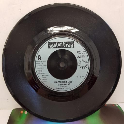 "MOTORHEAD - Motorhead, B side - Over The Top, BRO 124, 7""single, silver label with blue font"