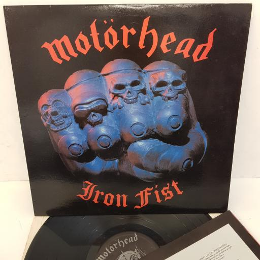 MOTORHEAD - Iron Fist, 12 inch LP, BRNA 539, one side:black Motorhead label, one cream BRONZE label