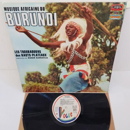 """ROGER BARBAGLIA - Musique Africaine Du Burundi: Les Troubadours Des Hauts-Plateaux, CLVLX 296, 12""""LP"""