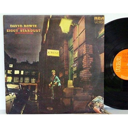 1st UK pressing no MAINMAN CREDIT. DAVID BOWIE the rise and fall of ziggy stardust and the spiders from mars, SF 8287