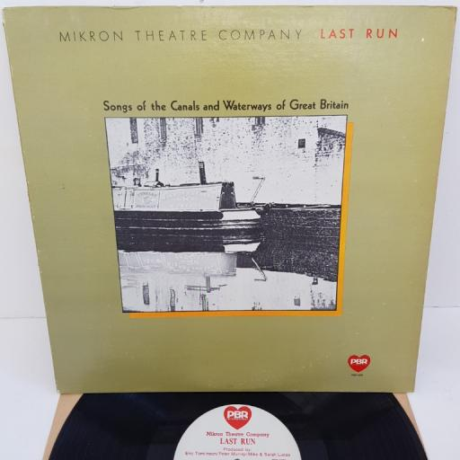 """MIKRON THEATRE COMPANY - Songs of the Canals and Waterways of Great Britain, PBR-5001, 12""""LP"""