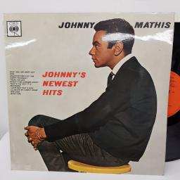 "JOHNNY MATHIS- Johnny's newest hits. BPG62147, 12"" LP, orange label with black font."