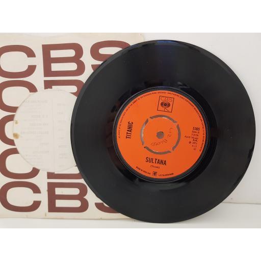 """TITANIC - sing fool sing. 5365, 7"""" single, orange label with black font."""