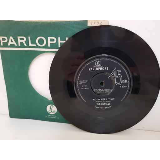 """THE BEATLES - day tripper/ we can work it out . R5389, 7"""" single."""
