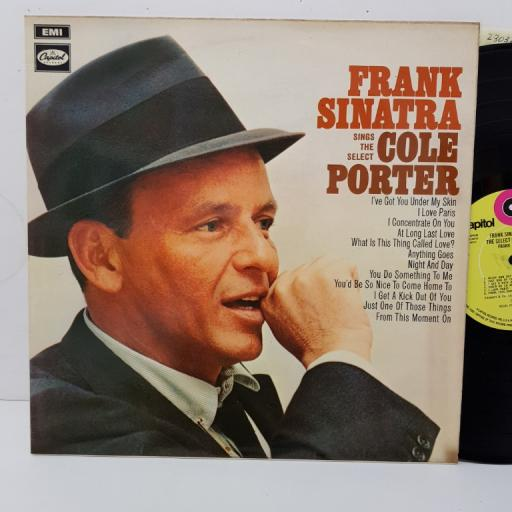 """FRANK SINATRA - sings the selct Cole Porter. SRS5009, 12"""" LP, yellow label with black font."""