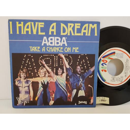"ABBA - i have a dream/ take a chance on me. 101269, 7"" single"