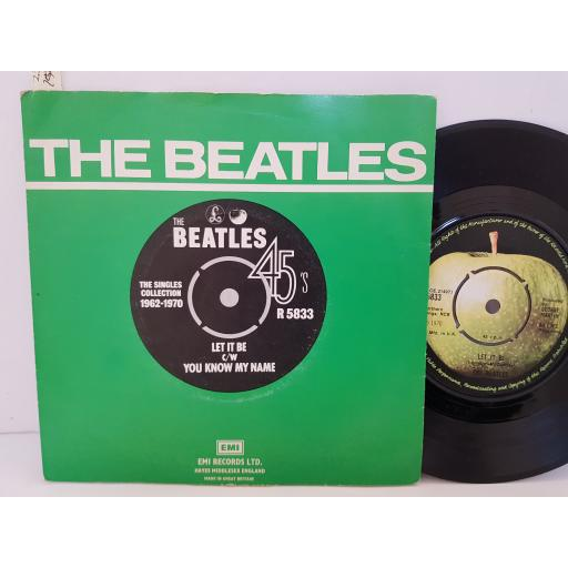 """THE BEATLES - let it be c/w you know my name. R5833, 7"""" single."""