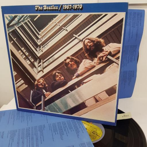 """THE BEATLES- 1967-1970. SKBO3404, 12"""" LP, green apple on label with black font"""