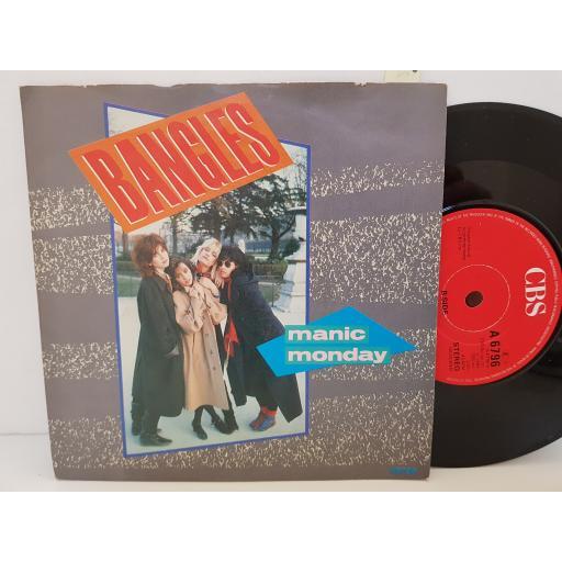 """BANGLES - manic monday. A6796, 7"""" single."""
