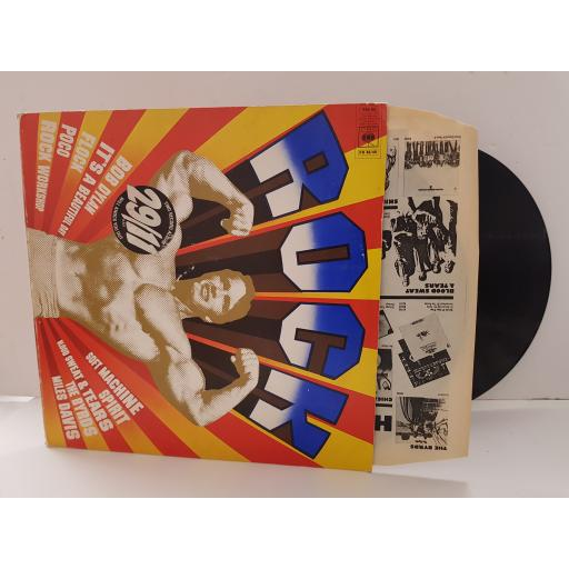 29'11 TWO RECORD SET price sticker on front cover. rock buster. FEATURING SOFT MACHINE, BOB DYLAN, THE BYRDS, MILES DAVIS ETC PR4849, Arnold Schwarzenegger ON COVER
