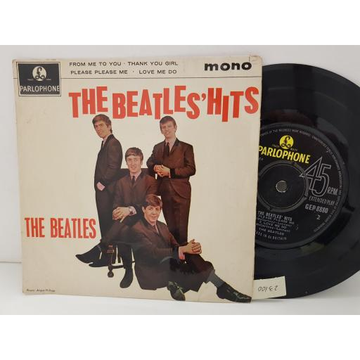 """THE BEATLES - the beatles' hits. FROM ME TO YOU, THANK YOU GIRL, PLEASE PLEASE ME, LOVE ME DO. GEP8880, 7"""" EP PICTURE SLEEVE single"""
