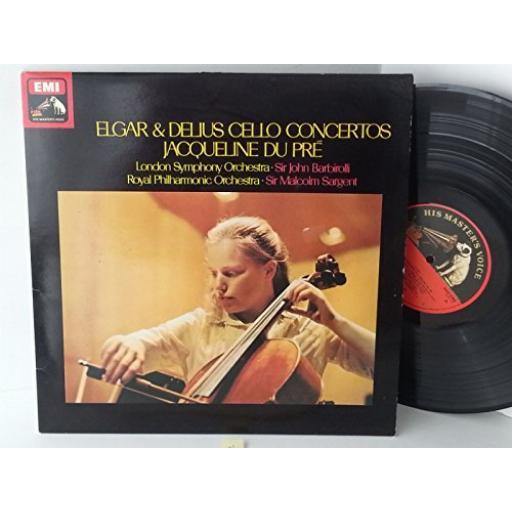 JACQUELINE DU PRE, ELGAR & DELIUS CELLO CONCERTOS cello concerto in e minor, op 85, ASD 2764.