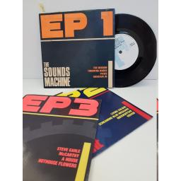 "THE SOUNDS MACHINE - ep1, ep2, ep3. MACH(1-3), 3x7"" single"