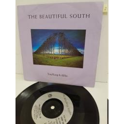 "THE BEAUTIFUL SOUTH - you keep it all in . GOD35, 7"" single"