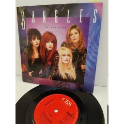 "BANGLES - in your room. BANGS4, 7"" single"