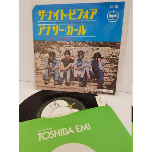 """THE BEATLES - the night before/ another girl. AR1430, 7"""" single"""