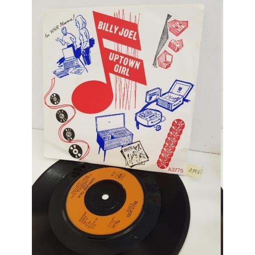 """BILLY JOEL - uptown girl. A3775, 7"""" single"""
