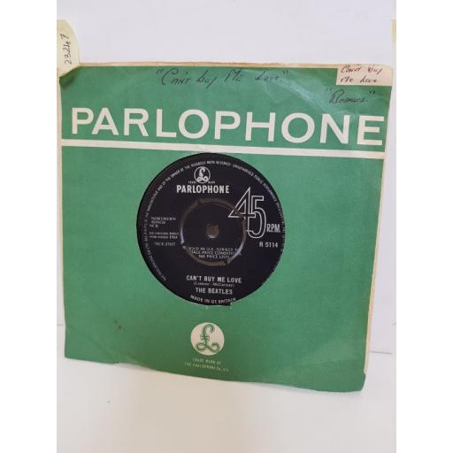 """THE BEATLES - can't buy me love/ you can't do that. R5114, 7"""" single"""