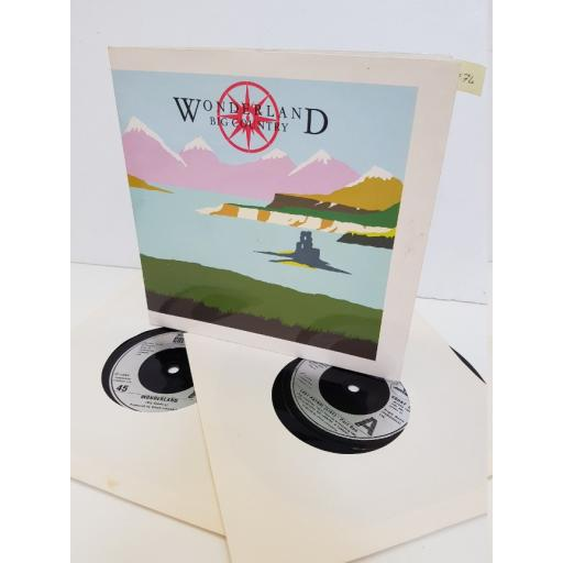 "BIG COUNTRY - wonderland. COUNT55, 2x7"" single"