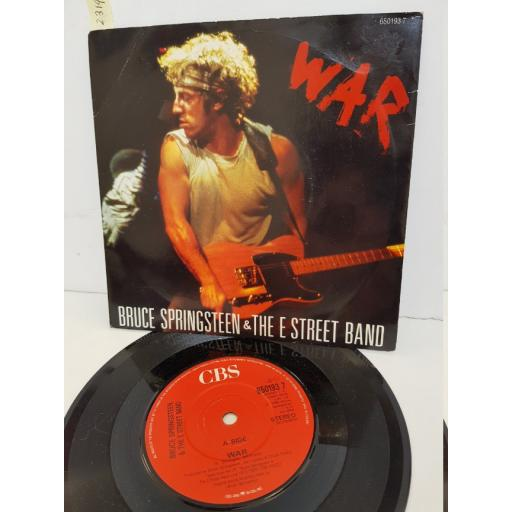"BRUCE SPRINGSTEEN & THE E STREET BAND - war. 6501937, 7"" single."