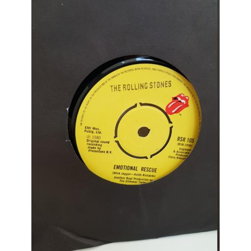 """THE ROLLING STONES - emotional rescue. RSR105, 7"""" single"""