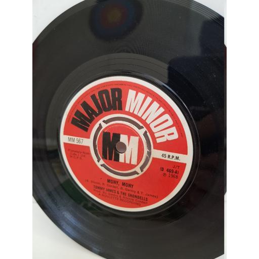 "TOMMY JAMES & THE SHONDELLS - mony, mony. D469, 7"" single"