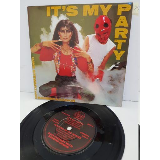 "DAVE STEWART AND BARBARA CASKIN - it's my party. BROKEN2, 7"" single"