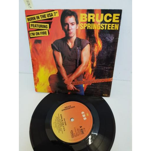 """BRUCE SPRINGSTEEN - born in the usa. A6342, 7"""" single"""