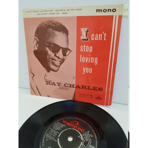 """RAY CHARLES - i can't stop loving you. 7EG8781, 7"""" single"""