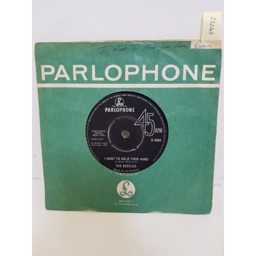 """THE BEATLES - i want to hold your hand/ this boy. R5084, 7"""" single"""