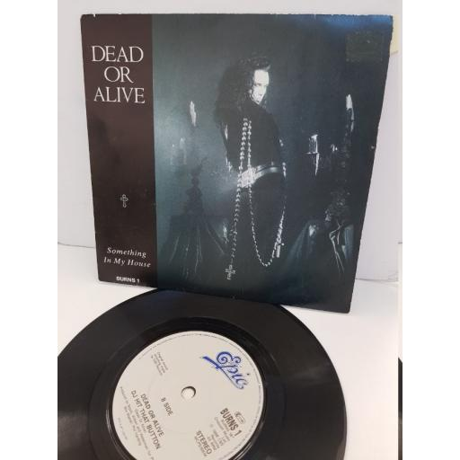 """DEAD OR ALIVE - something in my house. BURNS1, 7"""" single"""