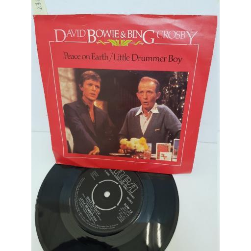 """DAVID BOWIE & BING CROSBY - peace on earth/ little drummer boy. PB13400, 7"""" single"""