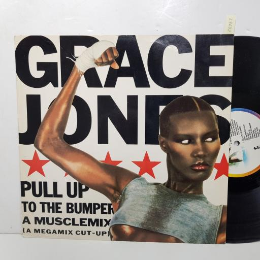 "GRACE JONES - pull up to the bumper ( a musclemix). 12ISX240, 12"" SINGLE"