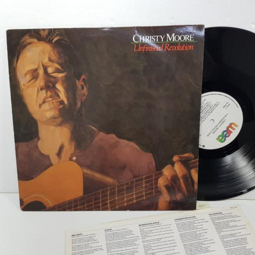 "CHRISTY MOORE - unfinished revolution. WX104, 12""LP"