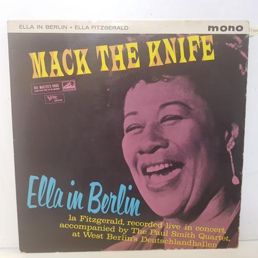 "ELLA FITZGERALD - mack the knife - ella in berlin. CLP1391, 12""LP"