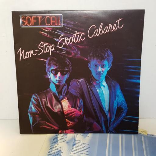 """SOFT CELL - non-stop erotic cabaret. BZLP2, 12""""LP"""