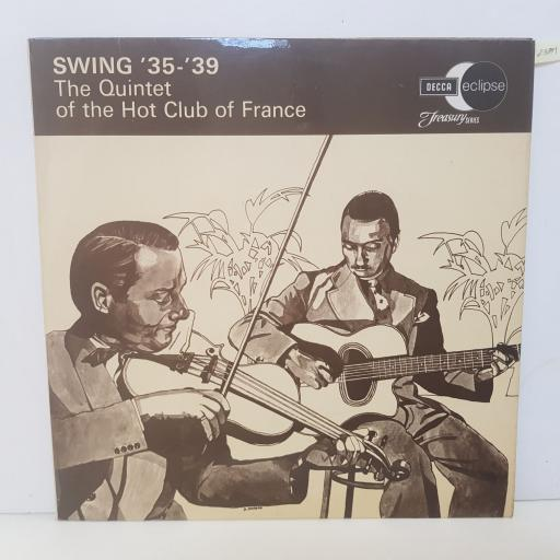 "THE QUINTET OF THE HOT CLUB OF FRANCE - swing '35- '39. ECM2051, 12""LP"
