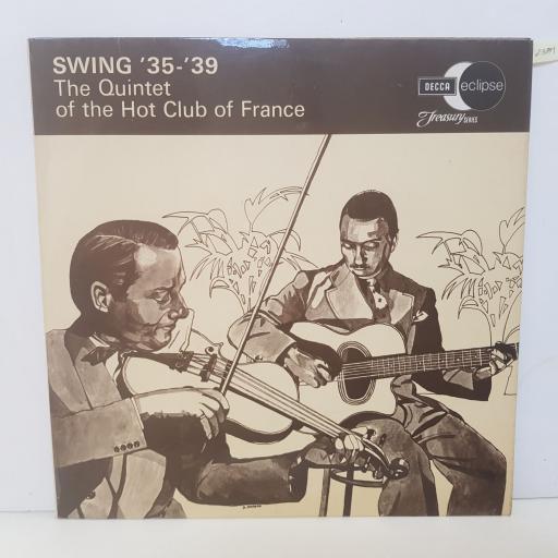 "THE QUINTET OF THE HOT CLUB OF FRANCE - swing '35- '39. ECM2051, 12""LP"