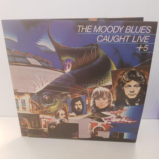 """THE MOODY BLUES - caught live +5. MB34, 2x12""""LP"""