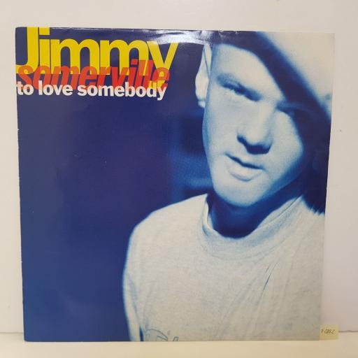 "JIMMY SOMERVILLE - to love somebody. LONX281, 12""LP"