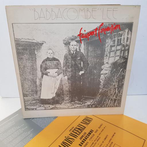 "FAIRPORT CONVENTION - babbacombe lee. ILPS9176, 12""LP"
