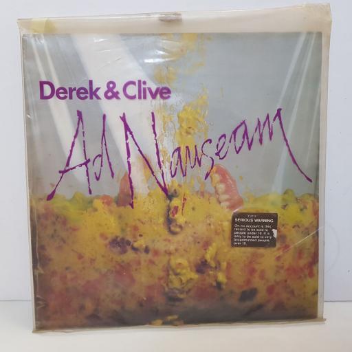 """DEREK & CLIVE - ad nauseam. V2112, 12""""LP"""
