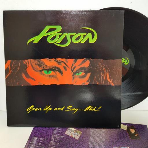 """POISON - openup and say...ahh! EST2059, 12""""LP"""